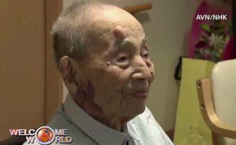 คุณทวดชาวญี่ปุ่นทำสถิติชายอายุยืนสุดในโลก
