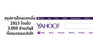 Yohoo ยอมรับมี 3,000 ล้านบัญชีทั้งหมดของบริษัท โดนแฮกในปี 2013