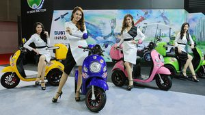 H SEM MOTOR เผยโฉม SEV CANDY BOX  มอเตอร์ไซค์ไฟฟ้ารุ่นใหม่ล่าสุด ในงาน BIG MOTOR SALE 2017