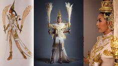 จากช้างเผือกในตำนานสู่ เศวตกุญชร ชุดประจำชาติ Miss All Nations Thailand