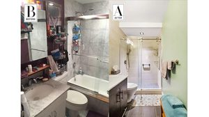 งัดเทคนิค รีโนเวทห้องน้ำ เปลี่ยนห้องแคบ ให้กลายเป็นห้องกว้าง
