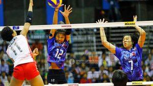 สาวไทย พ่าย ญี่ปุ่น สูสีเซตตัดสิน 2-3 จบที่ 2 กลุ่มอี ศึกลูกยางยู-19