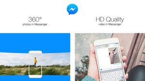 Facebook ให้รับ-ส่ง ภาพ 360 องศา และวีดีโอ HD บนแอพ Messenger ได้แล้ว