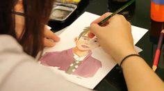 วิธีวาดรูปการ์ตูนสีน้ำ จากคาแรกเตอร์ 4 พระเอกสุดฮอตเกาหลี