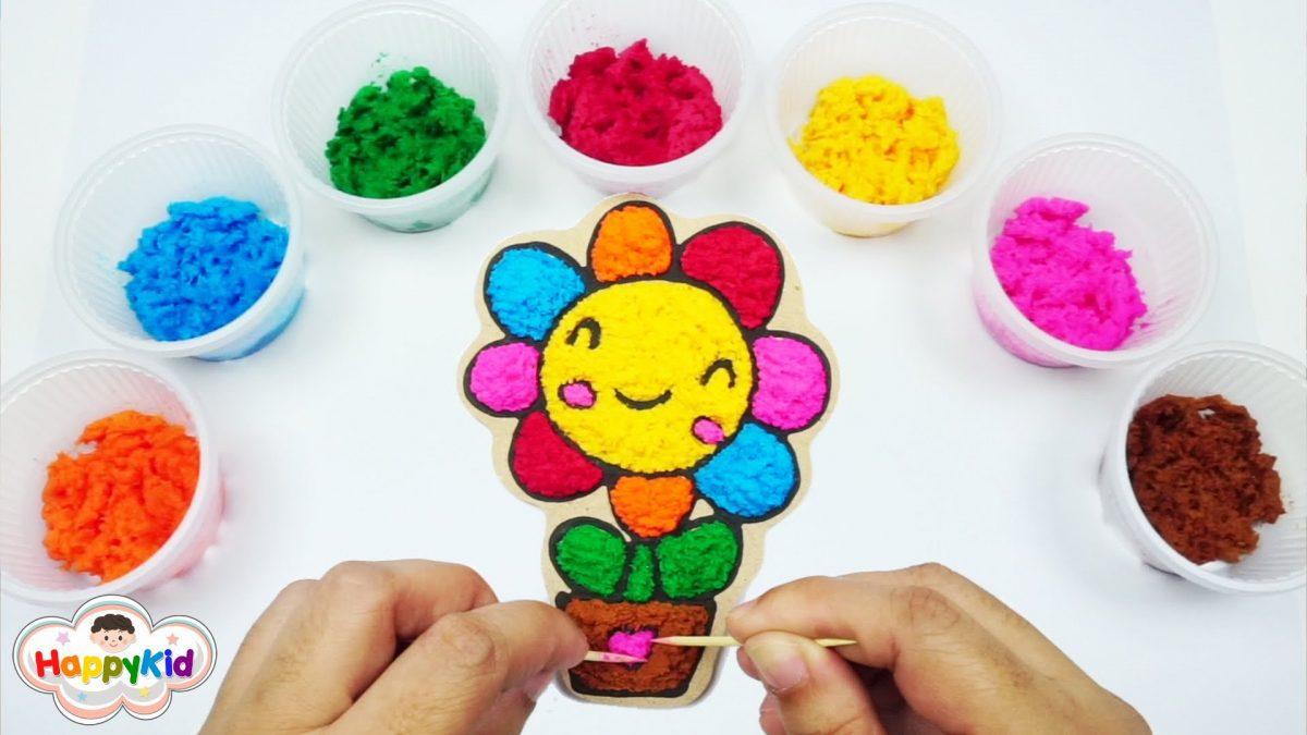 เล่นเปเปอร์เคลกระถางดอกไม้ | เรียนรู้สีภาษาอังกฤษ | Learn Color With Paper Clay