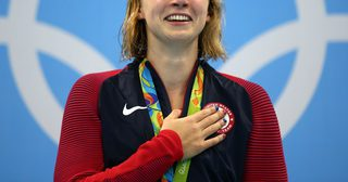 us-swimmer-katie-ledecky-cried-after-winning-her-fourth-gold-medal-of-the-rio-games--and-breaking-her-own-world-record-11-seconds-before-anyone-else-finished-the-race