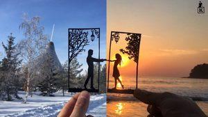 10 ภาพ ศิลปะตัดกระดาษ เปลี่ยนสถานที่เที่ยวธรรมดา ให้ดูน่าสนใจ