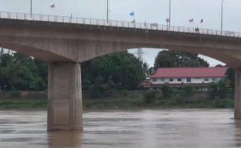 แม่น้ำโขงล้นท่วมจุดผ่อนปรนไทย-ลาว จ.นครพนม