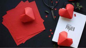 """ของขวัญ สื่อรัก """"หัวใจกระดาษ"""" ทำง่าย ๆ ให้คนที่คุณรัก"""