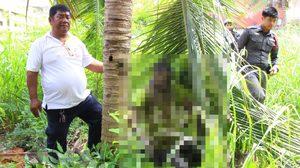 สะเทือนขวัญ ! ฆ่าหนุ่มพิการชาวพม่าจับรัดคอผูกกับต้นมะพร้าวอำพรางคดี
