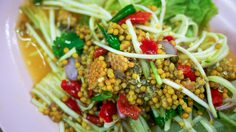 spicy horseshoe crab eggs salad