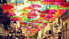 เที่ยวเทศกาล ถนนร่มหลากสี ที่เมืองอากุยดา ประเทศโปรตุเกส