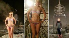 เย็นถึงใจ!! สาวรัสเซียรวมตัวกันนุ่ง บิกินี่ ตัวจิ๋ว ออกไปเล่นน้ำ ท่ามกลางอุณหภูมิติดลบ