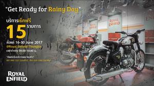 """""""Royal Enfield"""" แนะนำทิปส์ตรวจสภาพจักรยานยนต์คู่ใจช่วงหน้าฝน พร้อมจัดแคมเปญ Get Ready for Rainy Day เช็คฟรี 15 รายการ"""