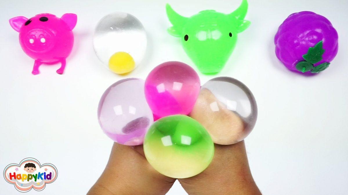สกุชี่น้ำเด้งดึ๋ง | เรียนรู้สีภาษาอังกฤษ | สไลม์บอล | Learn Color With Squishy Water Stress Ball