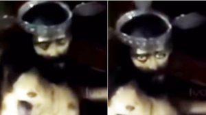 ขนลุก ! รูปปั้นพระเยซูลืมตาขึ้นมาดูสาวกกลางโบสถ์
