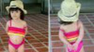 หนูน้อยซุปตาร์ ลูกดารา ใน ชุดว่ายน้ำ น่ารักเว่อร์