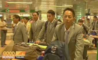 นักกีฬาไทยชุดใหญ่เดินทางถึงสิงคโปร์