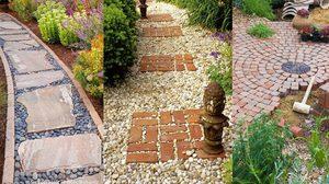 9 ลาย ทางเดินในสวน เก๋ๆ จากวัสดุหาง่าย สำหรับคุณ คนรักสวน โดยเฉพาะ