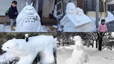 สมแล้วที่เป็นญี่ปุ่น ตุ๊กตาหิมะ สุดน่ารักทั่วกรุงโตเกียว หลังโดนหิมะถล่มหนัก