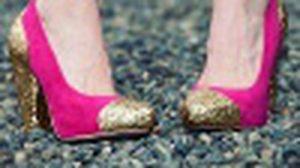 DIY รองเท้ากลิตเตอร์สีทองสุดวิ้ง สวย เริ่ด!
