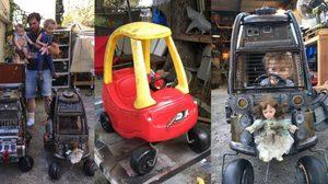 คุณพ่อสุดเจ๋ง เปลี่ยนรถเด็กเล่นเป็นรถ Mad Max ให้ลูก สมจริงมากๆ