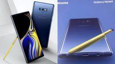 หลุดภาพ Official เรนเดอร์ Galaxy Note 9 บอดี้สีน้ำเงิน ปากกา S Pen สีเหลือง