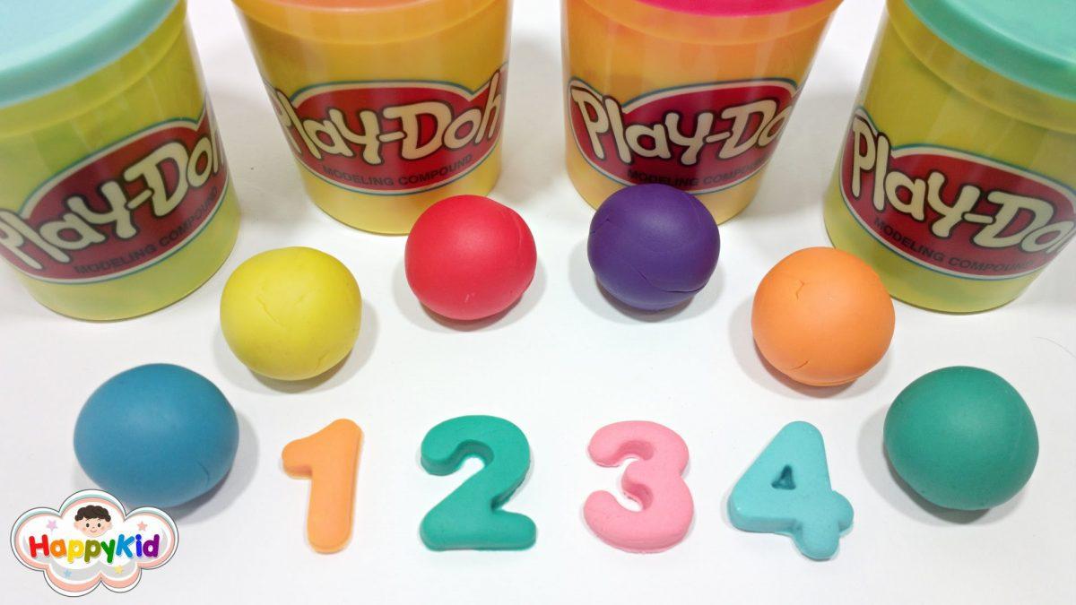 เรียนรู้ตัวเลข | แป้งโดว์ตัวเลข | นับเลข 1-10 เป็นภาษาอังกฤษ | Learn to count 1-10