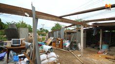 พายุหมุนพัดถล่มคลอง13 ลำลูกกา ทำบ้านเรือนประชาชนเสียหายหนัก