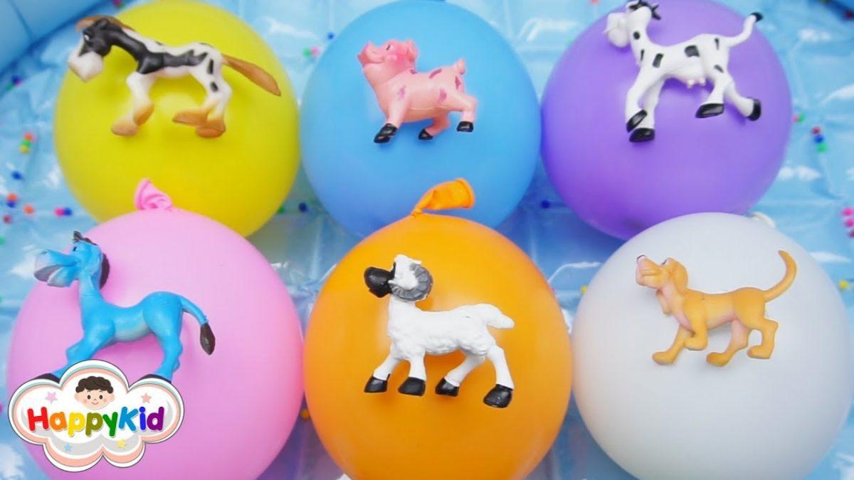 เพลง Finger Family #13 | เจาะลูกโป่งสัตว์เลี้ยง | เรียนรู้สี | Learn Color With Animals Balloons