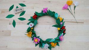 ทำเองได้ง่ายๆ DIY มงกุฎดอกไม้กระดาษ