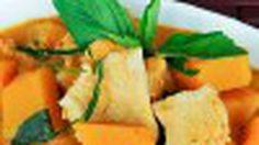 เมนู แกงไก่ทอดใส่ฟักทอง หอมอร่อยชวนลิ้มลอง