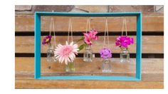 D.I.Y. กรอบแจกันดอกไม้ จาก ขวดแก้ว