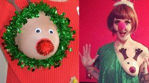 Sexy Christmas Boob ประดับนมรับคริสต์มาส นี่มันเทศกาลคืนความสุขชัดๆ
