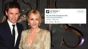 เจ.เค. โรวลิง ทวีตเหมือนบอกใบ้ในภาพยนตร์ภาคต่อ Fantastic Beasts