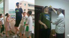 โอ้โห เด็กจีน อายุ 11 สูง 205 เซนติเมตร สูงเกินขนาดเพื่อนๆ รุ่นเดียวกันเลย