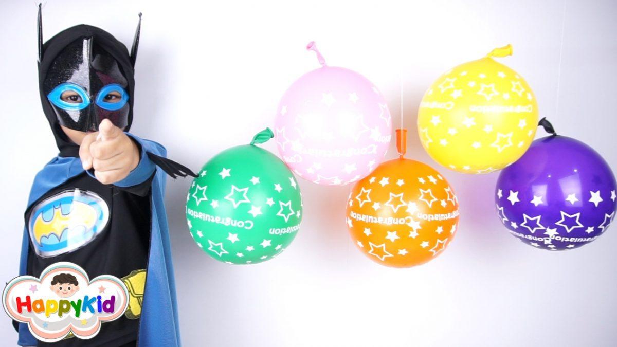 เพลงนิ้วโป้งอยู่ไหน #14 | แบทแมนเจาะลูกโป่งดาว | เรียนรู้สี | Learn Color With Batman