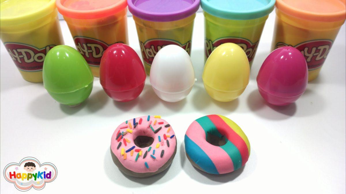 ปั้นแป้งโดว์ โดนัท | เรียนรู้สีภาษาอังกฤษ | Learn Color With Donut Play Doh