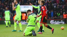 BOURNEMOUTH, ENGLAND - DECEMBER 04:  James Milner of Liverpool (7) reacts as he concedes a penalty during the Premier League match between AFC Bournemouth and Liverpool at Vitality Stadium on December 4, 2016 in Bournemouth, England.  (Photo by Michael Steele/Getty Images)