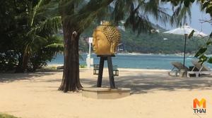 ชาวพุทธเกาะสมุยโวยวิลล่าหรูนำเศียรพระพุทธรูปมาตั้งโชว์ริมชายหาด