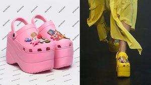 เปลี่ยนหน้าฝนให้เป็นรันเวย์! ด้วยรองเท้า Croc จาก Balenciaga สวยใสไฮแฟชั่นมาก