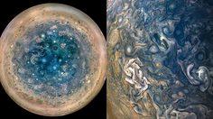 สีสวยมาก! นาซ่าโชว์ภาพดาวพฤหัส จากยานอวกาศจูโนแบบใกล้ๆ
