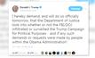 """""""ทรัมป์"""" ขู่ตรวจสอบ FBI"""