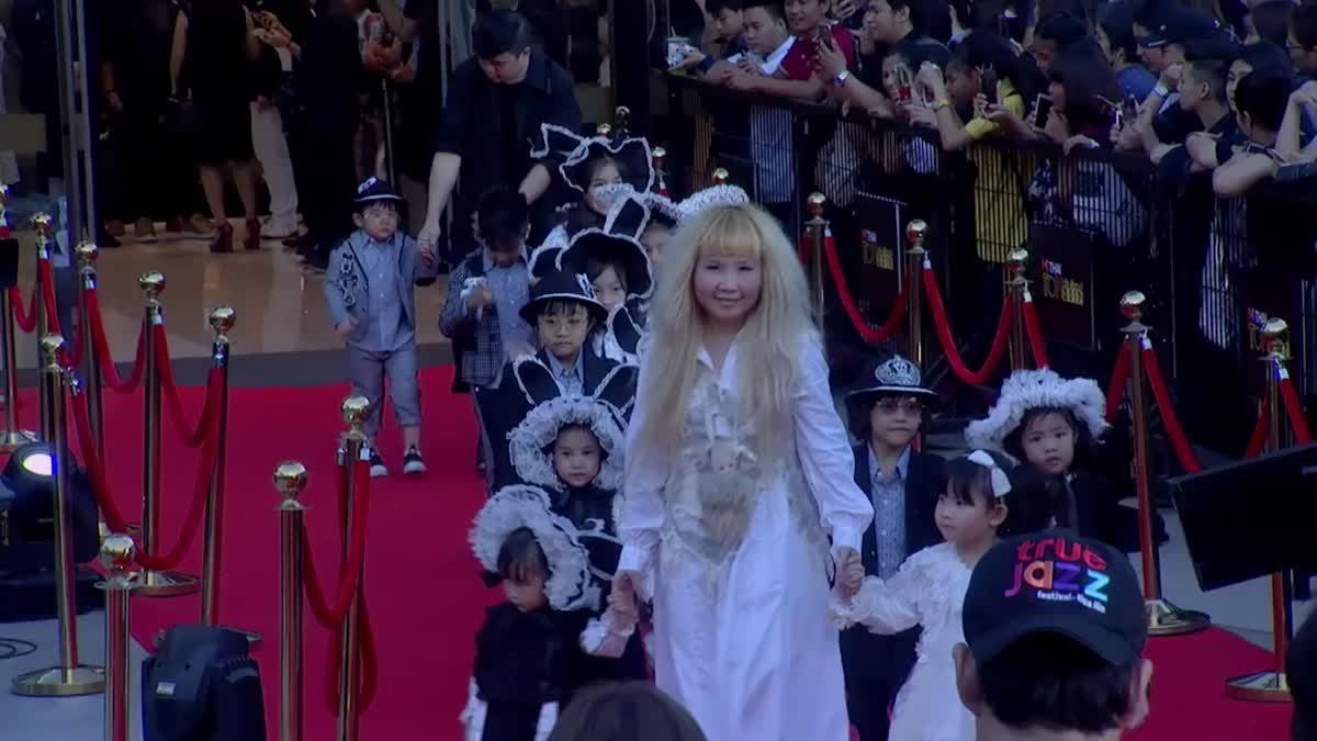 ฮาราจุกุ คิดส์ เดินพรมแดง ในงานประกาศผลรางวัล MThai Top Talk-About 2017
