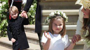 ชมความน่ารักของ เจ้าชายจอร์จ เจ้าหญิงชาร์ลอตต์ ในงานเสกสมรสเจ้าชายแฮร์รี – เมแกน