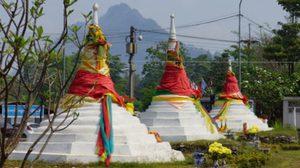 เที่ยวด่านเจดีย์สามองค์ เลาะชายแดนพม่า ไหว้พระวัดเสาร้อยต้น