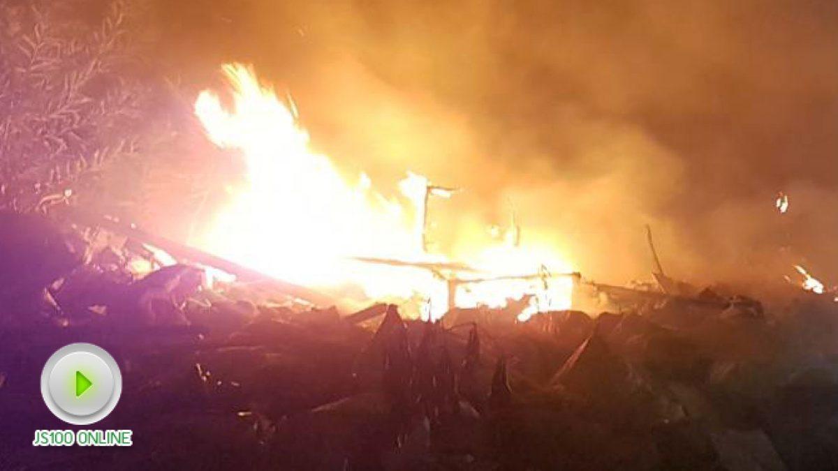 ไฟไหม้กองขยะ ใกล้เคียงบ้านเรือน ซ.รามอินทรา 14 แยก 8 ตรงข้ามกับหอพักเจริญสุข (14-11-2560)