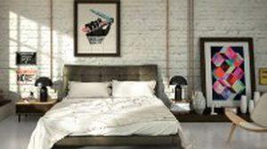 ไอเดียแต่ง ห้องนอนสีขาว สไตล์ Loft
