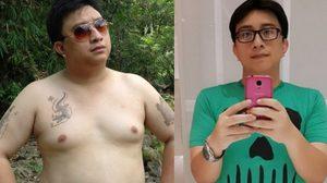 พลังใจล้วนๆ หนุ่มลดน้ำหนัก 43 กิโล สู้โรคร้ายออกกำลังกายทั้งๆ ที่ป่วย