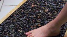 diy พรมเช็ดเท้า กันลื่นทำจากหิน